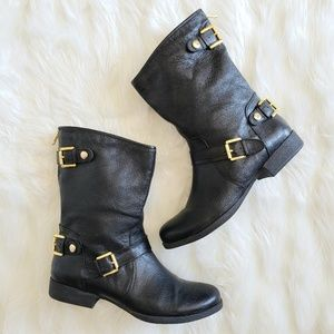 Steve Madden Black Motorcycle Style Boots 9.5 M